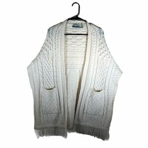 Vintage AranCrafts Cable Knit Sweater Shawl